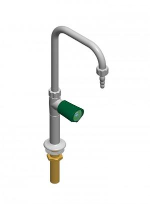 Collo di cigno con rubinetto - beccuccio ottone