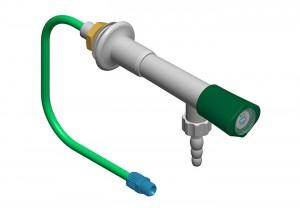 Colonna con 1 rubinetto e tubo h=300 l=300 polipropilene