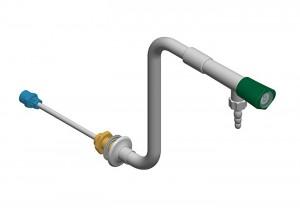 Colonna con 1 rubinetto e tubo in polipropilene - h=250 l=250