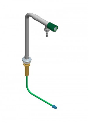 Colonna con 1 rubinetto e tubo - h=300 l=150 polipropilene