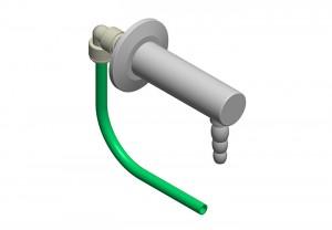 Beccuccio 90° con innesto rapido e tubo