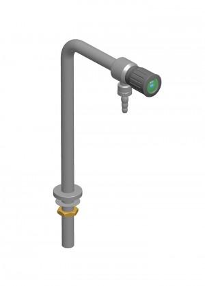 Colonnina inox 1 rubinetto - h=300 - l=150 - G1/2 - manopola cilindrica