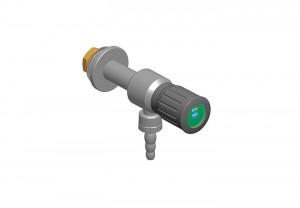 Rubinetto inox - l=70 - G3/8 l=30 - manopola cilindrica