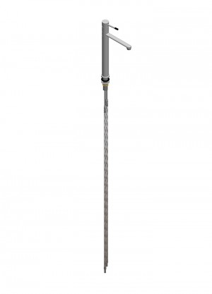 Miscelatore per acqua bocca girevole h=300 l=200 - flessibili con tubetto Ø10 - leva corta