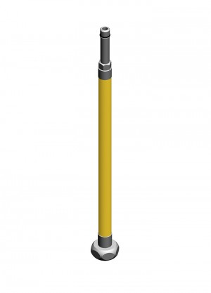 Flessibile inox aisi316l m10x1 calotta G1/2 per gas - l=1200mm