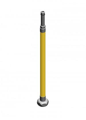 Flessibile inox aisi316l m10x1 calotta G1/2 per gas - l=4500mm