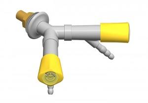 Doppio rubinetto - beccuccio 45° - distribuzione a y - G3/8b