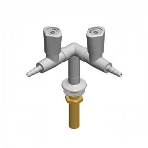 Colonnina 2 rubinetti - distribuzione a y - G1/2b