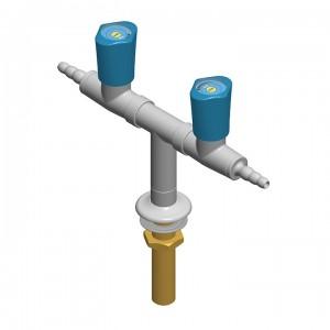 Colonnina 2 rubinetti - distribuzione a t - G1/2b