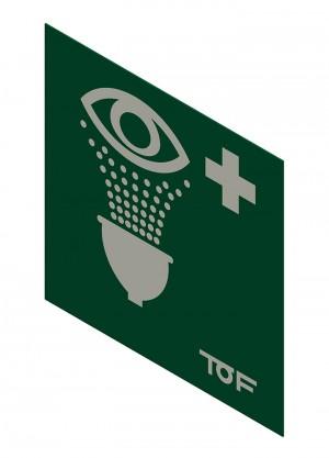 Cartello per doccette di emergenza