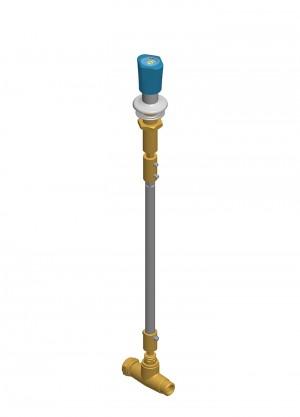 Comando a distanza per aria compressa con rubinetto - G1/2m - G1/2f